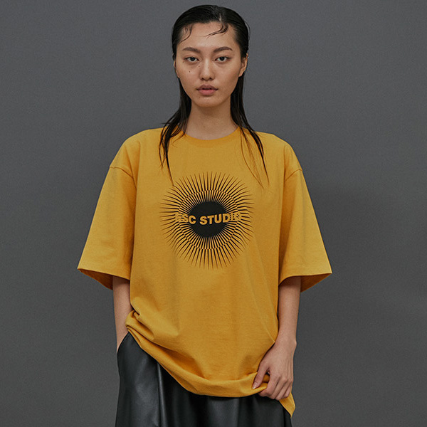 [ESCSTUDIO:이에스씨스튜디오] ESC logo T-shirt (Yellow)