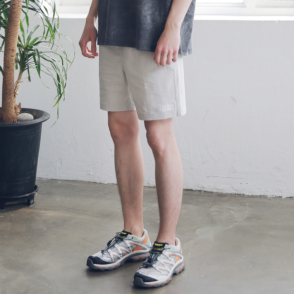 [매스노운 : MASSNOUN] SL LOGO BASIC SHORT PANTS MSNSP003-LG