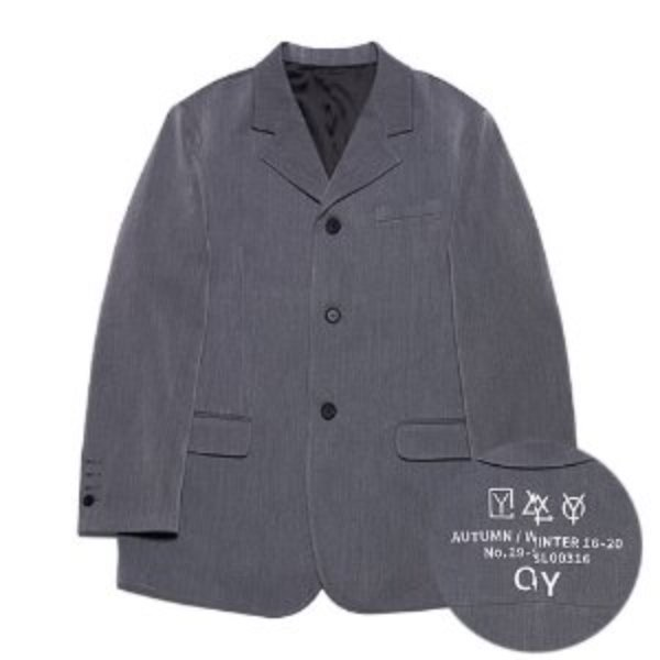 [오와이:OY] TRIPLE LOGO BLAZER - GREY