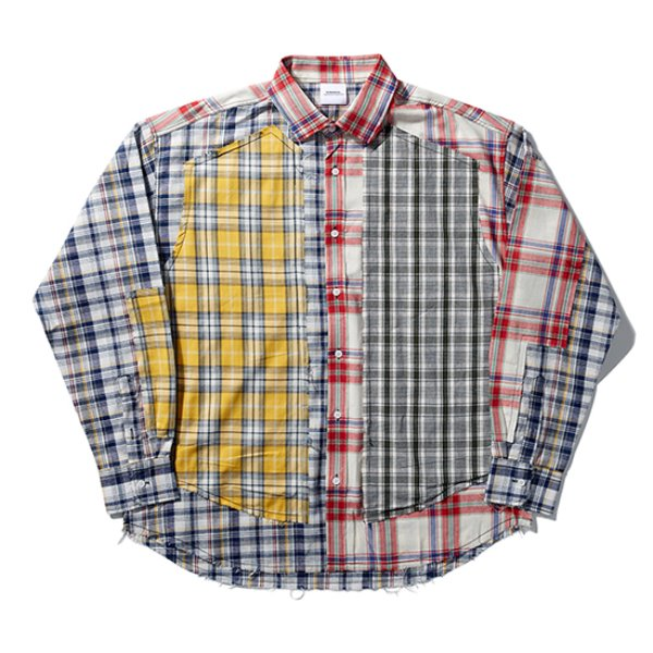 [노매뉴얼:nomanual] ROUGH CHECK SHIRT - TYPE II (RED)