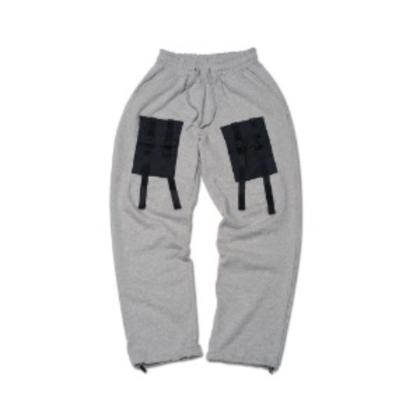 [CH-0:츠아] [ FEELXZERO ] WEBBING SWEATPANTS GRAY