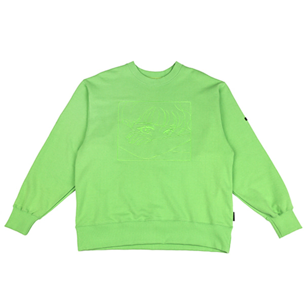 [아조바이아조:AJOBYAJO] Manga Sweat Shirt (Yellow Green)