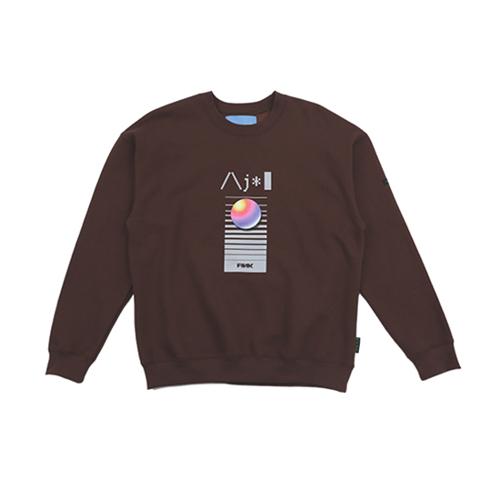 [아조바이아조 :AJOBYAJO FINK] Video Sweatshirt [Brown]