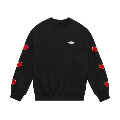 [키르시:KIRSH] MIDDLE CHERRY SWEATSHIRT IS [BLACK]
