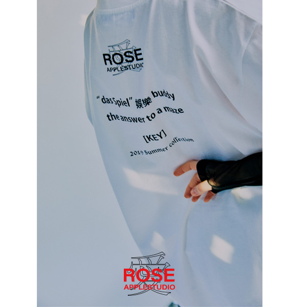 [로즈애플:ROSEAPPLE] BASIC BACK LOGO T-SHIRTS [WHITE]