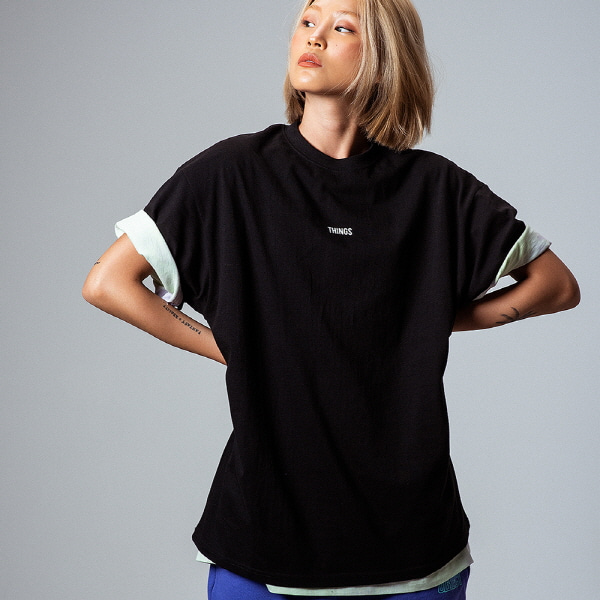 [오브젝트:OBJECT] THINGS T-SHIRT (BLACK)