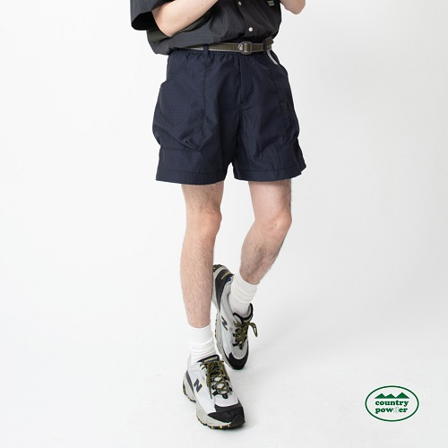 [컨츄리파우더:countrypowder]  HIKE BANDING CHECK SHORTS (NAVY)