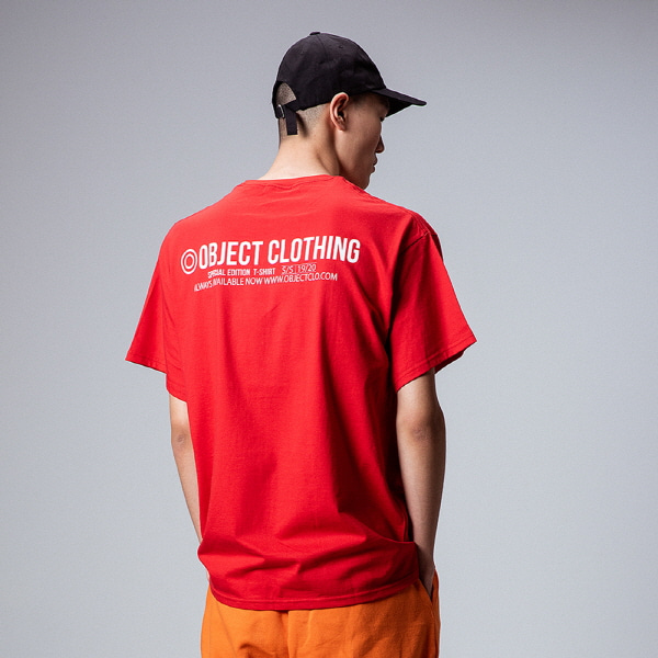 [오브젝트:OBJECT] THINGS T-SHIRT (RED)