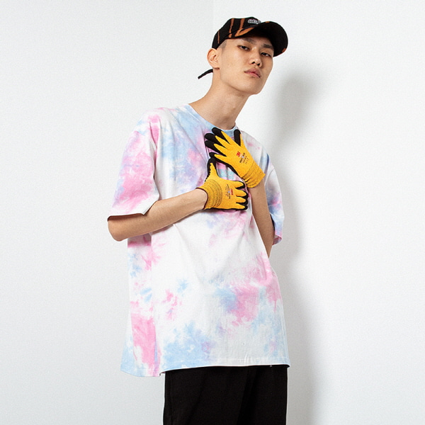 [오브젝트:OBJECT] TIE DYE OVERSIZED T-SHIRT (PINK)