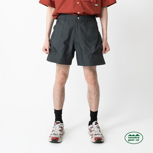 [컨츄리파우더:countrypowder] HIKE BANDING CHECK SHORTS (DARK OLIVE)