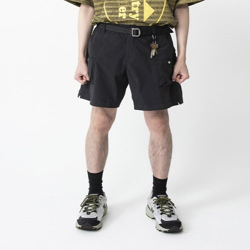 [컨츄리파우더:countrypowder]  MULTI POCKET BANDING SHORTS (BLACK)