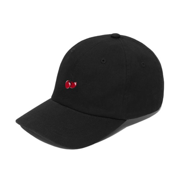 [키르시:KIRSH] CHERRY BALLCAP IH [BLACK]