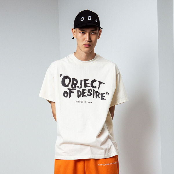 [오브젝트:OBJECT] OBJECT OF DESIRE T-SHIRT (BEIGE)