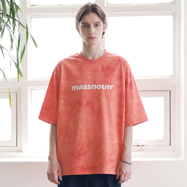 [매스노운 : MASSNOUN] SL LOGO TIE-DYE OVERSIZED T-SHIRTS MSNTS009-CR