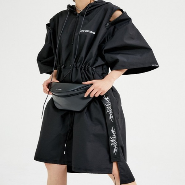 [ESCSTUDIO:이에스씨스튜디오]  String long hood anorak (black)