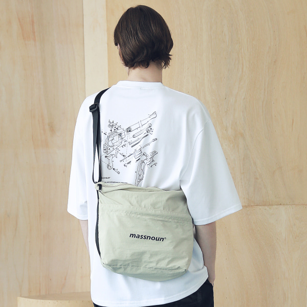 [매스노운 : MASSNOUN] SL LOGO 2WAY COMPACT BAG MSNAB003-BG