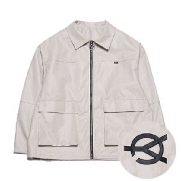 [오와이:OY] LEATHER JACKET - BEIGE