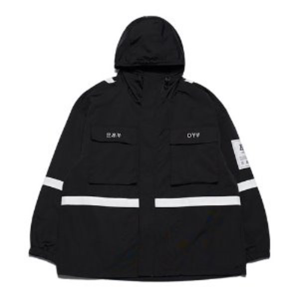 [오와이:OY] TAPE POCKET JACKET - BLACK