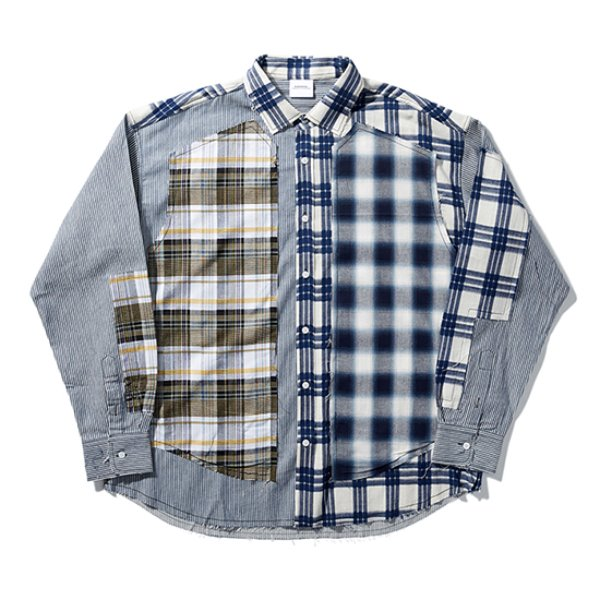 [노매뉴얼:nomanual] ROUGH CHECK SHIRT - TYPE I (BLUE)