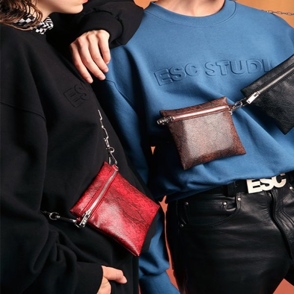 [ESCSTUDIO:이에스씨스튜디오] Leather cross mini bag (3color)