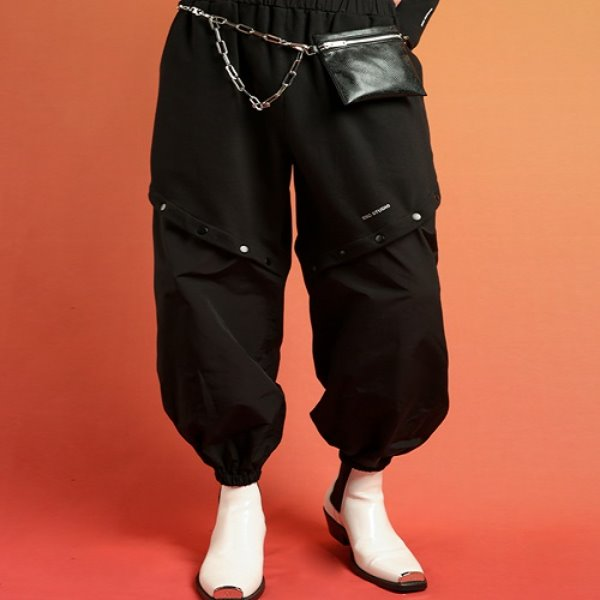 [ESCSTUDIO:이에스씨스튜디오] Snap training pants(black)