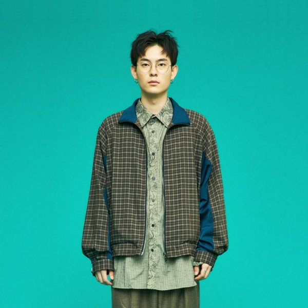 [컨츄리파우더:countrypowder] OVERSIZE CHECK JUMPER (BROWN)