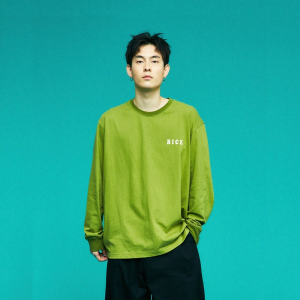 [컨츄리파우더:countrypowder] OVERSIZE MARKET GRAPHIC T SHIRTS (GREEN)