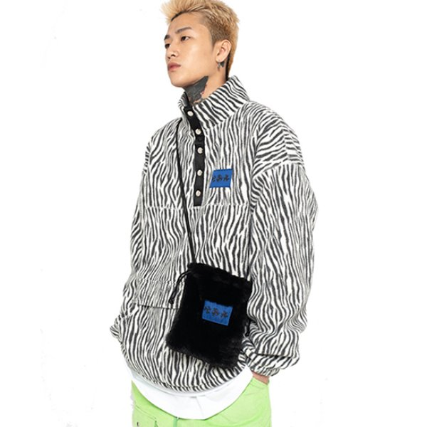 [셋업이엑스이:SETUP-EXE] Zebra fleece Anorak - white
