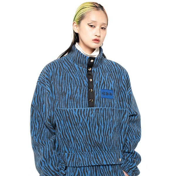 [셋업이엑스이:SETUP-EXE] Zebra fleece Anorak - blue