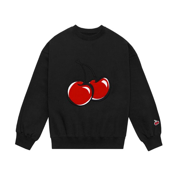 [키르시:KIRSH] BIG CHERRY SWEATSHIRT JS [BLACK]