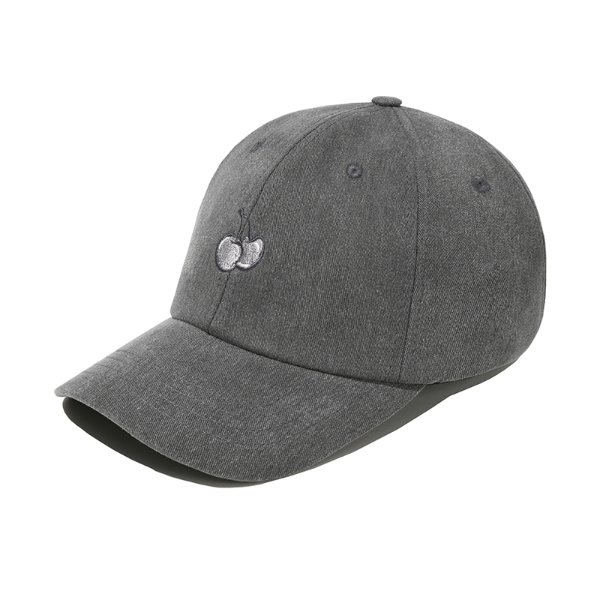 [키르시:KIRSH] TONE ON TONE CHERRY CAP JS [CHARCOAL GRAY]