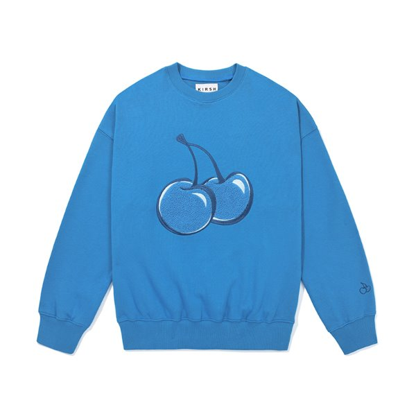 [키르시:KIRSH] TONE ON TONE BIG CHERRY SWEATSHIRT JS [BLUE]