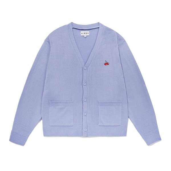[키르시:KIRSH] SMALL CHERRY V NECK CARDIGAN JS [BLUE]