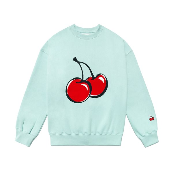 [키르시:KIRSH] BIG CHERRY SWEATSHIRT JS [LIGHT MINT]