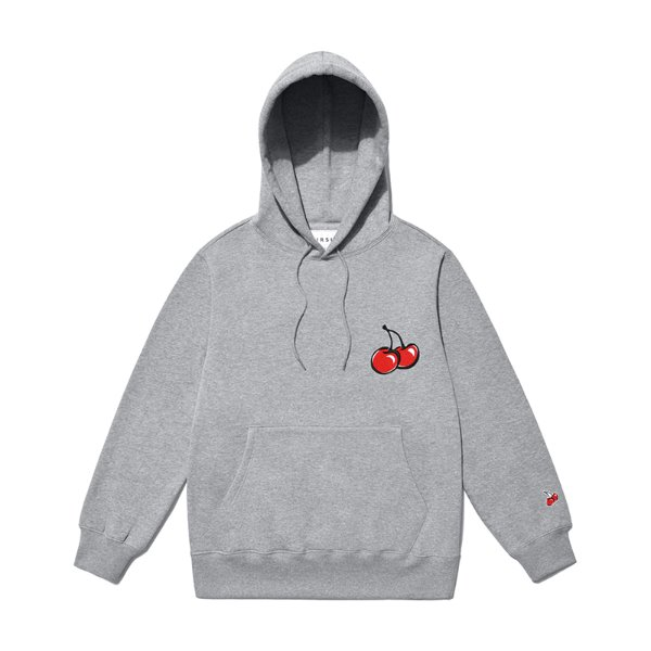 [키르시:KIRSH] MIDDLE CHERRY HOODIE JS [MELANGE GRAY]
