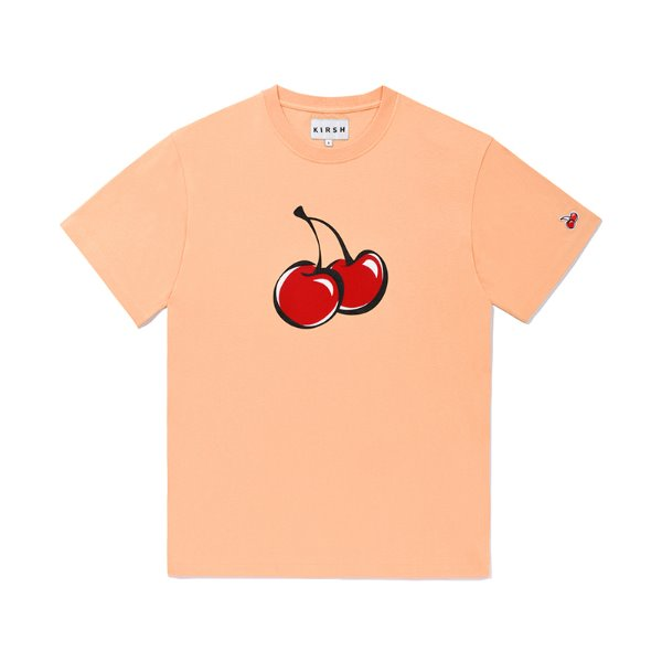 [키르시:KIRSH] BIG CHERRY T-SHIRTS JS [LIGHT ORANGE]