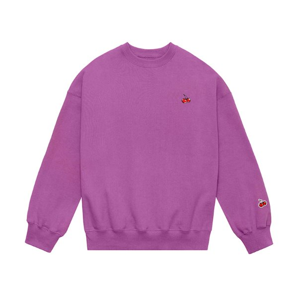 [키르시:KIRSH] SMALL CHERRY SWEATSHIRT JS [PURPLE]
