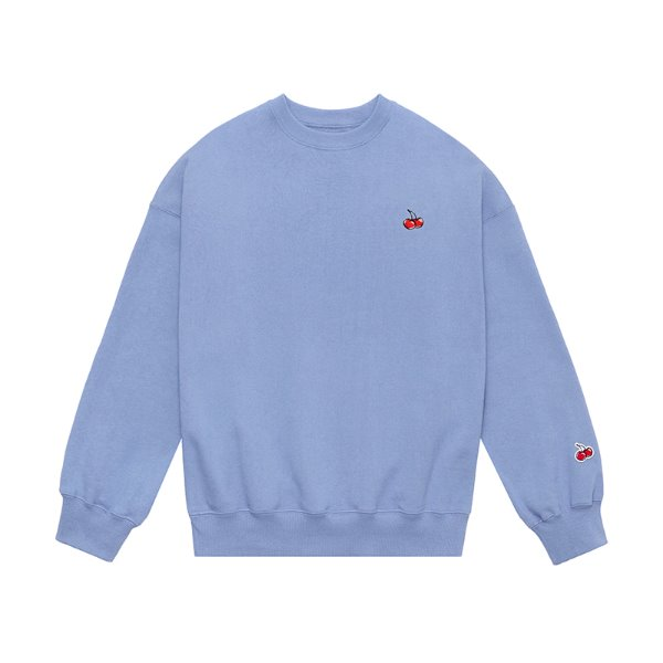 [키르시:KIRSH] SMALL CHERRY SWEATSHIRT JS [BLUE]