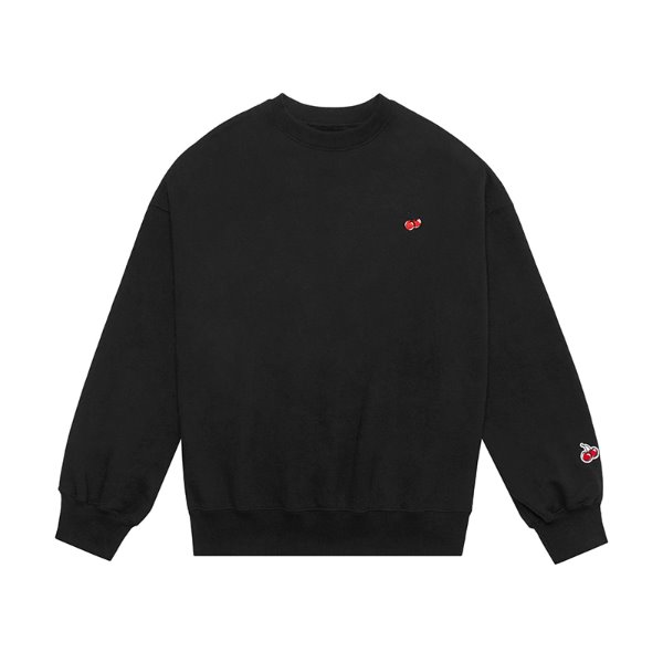 [키르시:KIRSH] SMALL CHERRY SWEATSHIRT JS [BLACK]