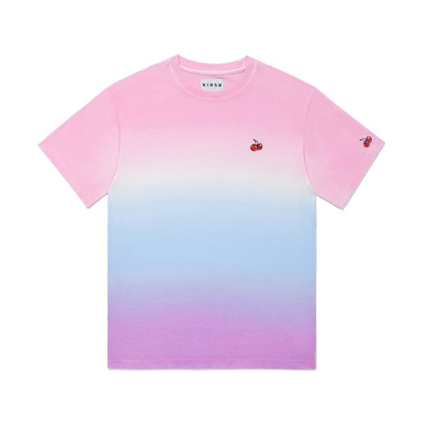 [키르시:KIRSH] SMALL CHERRY GRADATION T-SHIRTS JS [VIOLET]