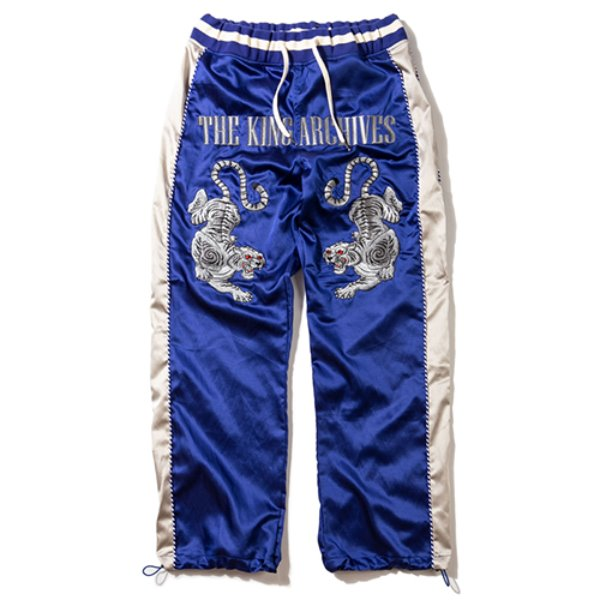[킹아카이브:KING-ARCHIVES] Sukajan Pants (Blue)