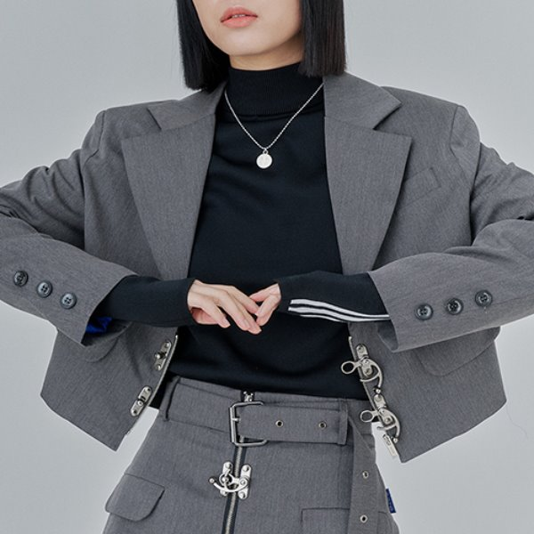 [어져드:OZOD] CROP BLAZER_gray