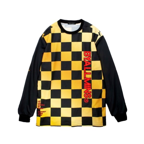 [바이얼민스:BYALLMINS] BRLMCJ LINE GOLDEN CHECK JERSEY (YELLOW)