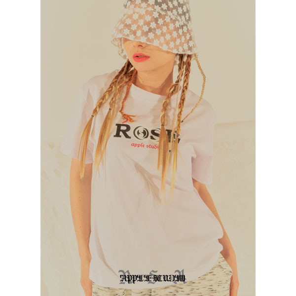 [로즈애플:roseapple] 202-BASIC LOGO T-SHIRTS - WHITE