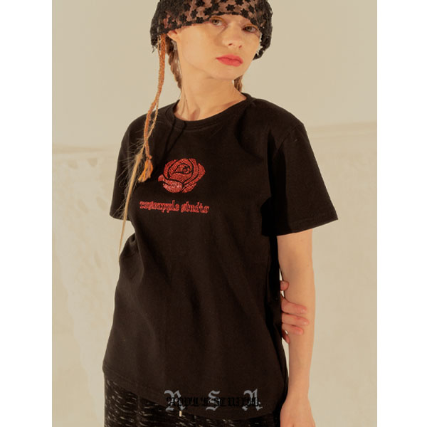[로즈애플:roseapple] 202-CUBIC LOGO T-SHIRTS - BLACK
