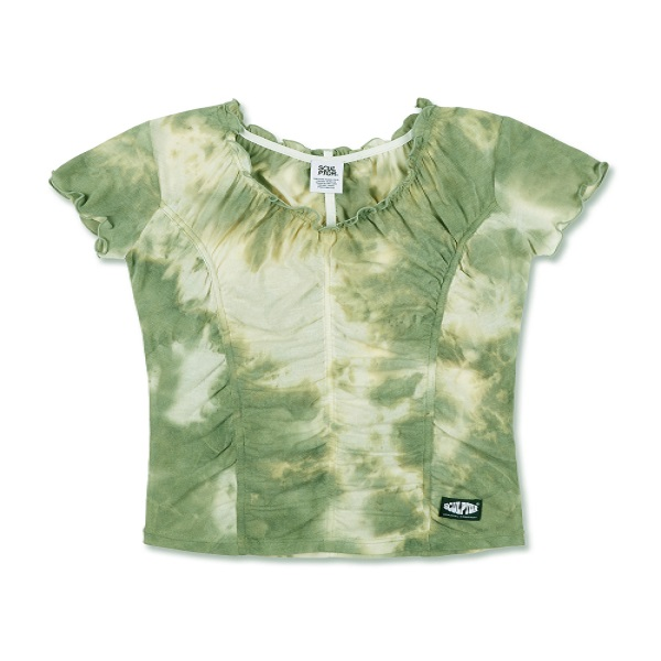 [SCULPTOR:스컬프터] Tie Dye Shirring Tee [GREEN]