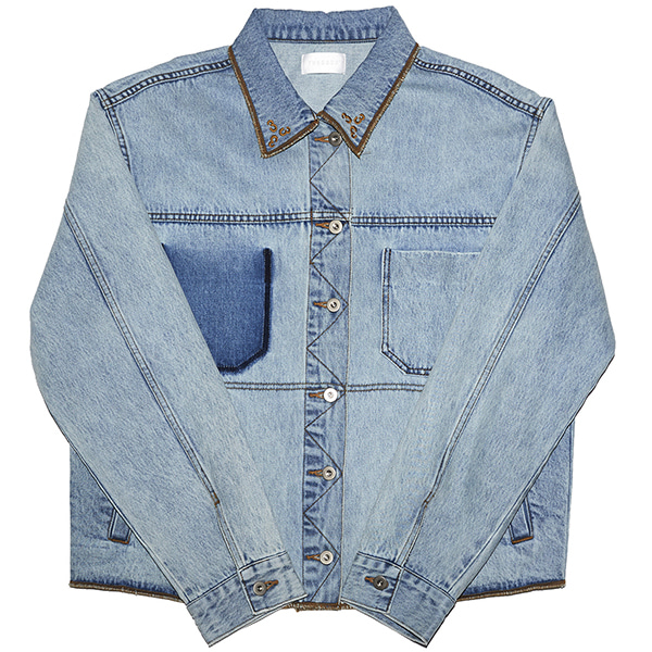 [포스333:PHOS333] Phos333 Denim Jacket/Light Blue