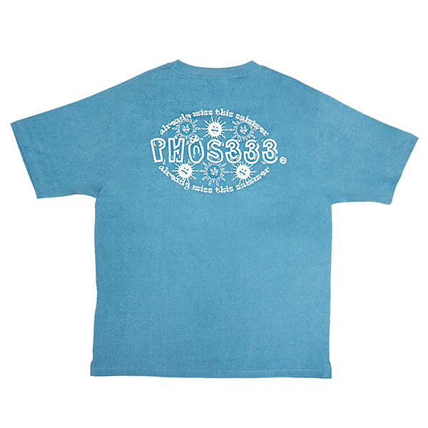 [포스333:PHOS333] Already Miss Summer Tee/Blue