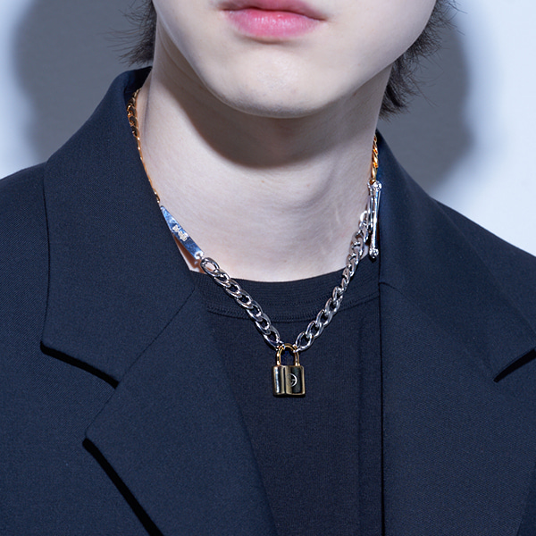 [하와:HAWHA] Gold And Silver Mix Necklace