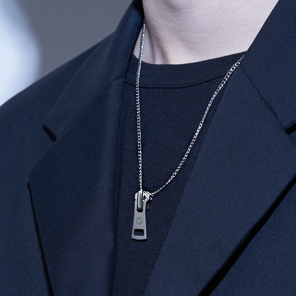 [하와:HAWHA] Zipper Bold Necklace